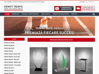 Cupe sportive trofee si medalii