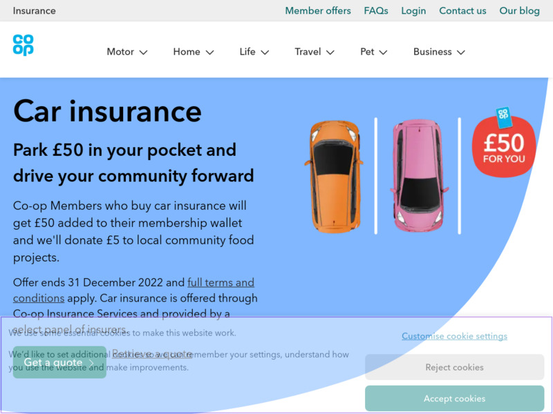 The Co-operative Car Insurance Quote
