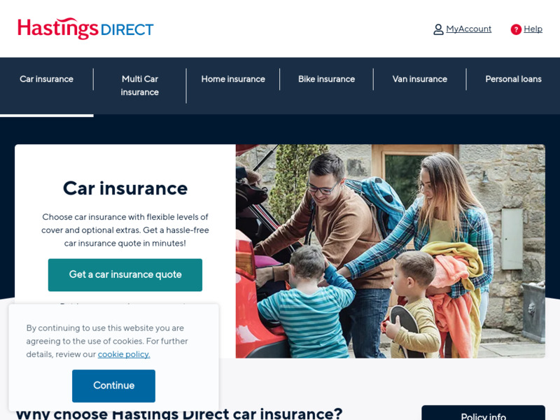 Hastings Direct Car Insurance Quote