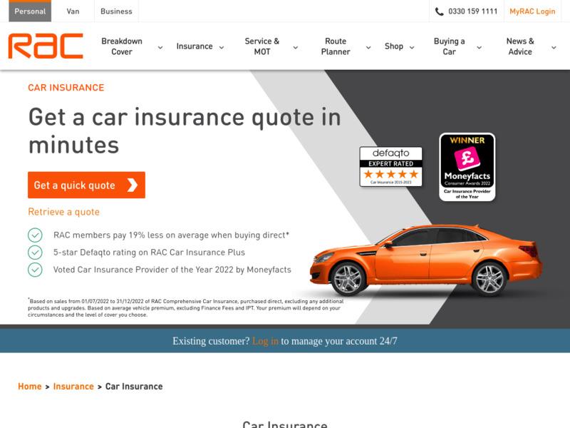 RAC Car Insurance Car Insurance Quote