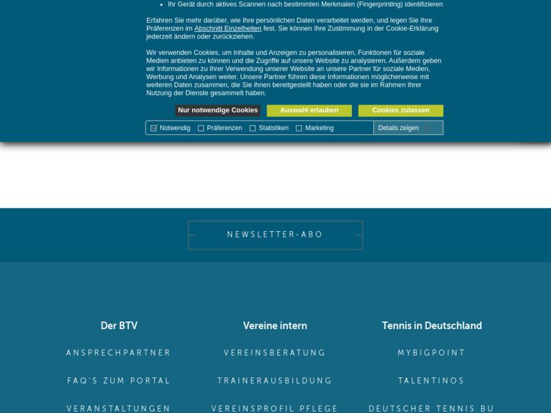 BTV - Bayerischer Tennis Verband