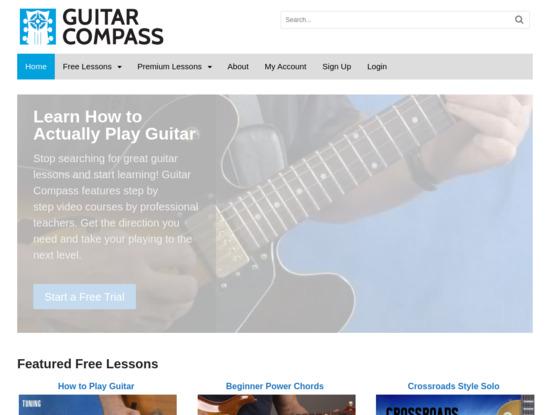 Screenshot of guitarcompass.com