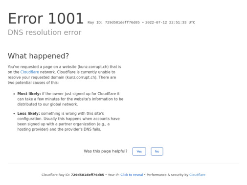 Screenshot of kunz.corrupt.ch