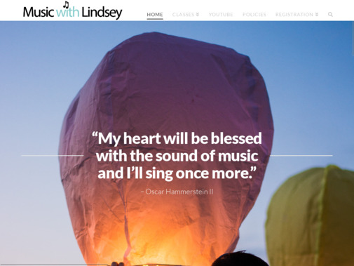 Screenshot of musicwithlindsey.com