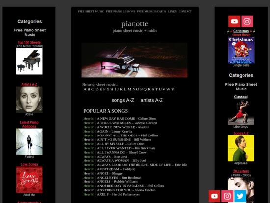 Screenshot of pianotte.szm.com