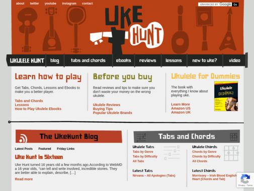 Screenshot of ukulelehunt.com