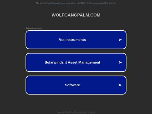 Screenshot of wolfgangpalm.com