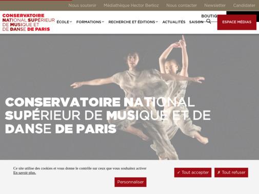 Screenshot of www.conservatoiredeparis.fr