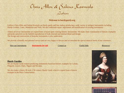 Screenshot of www.hurdygurdy.org