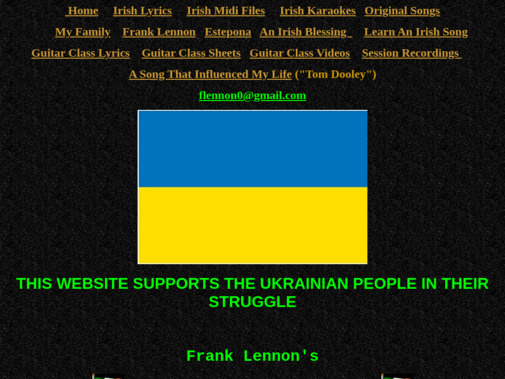 Screenshot of www.irishmidifiles.ie