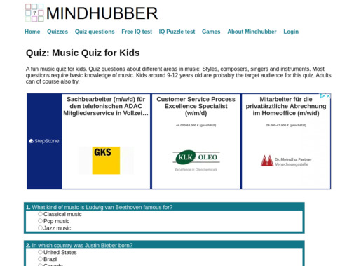 Screenshot of www.mindhubber.com