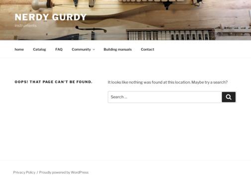 Screenshot of www.nerdygurdy.nl