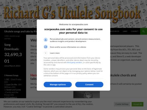 Screenshot of www.scorpexuke.com