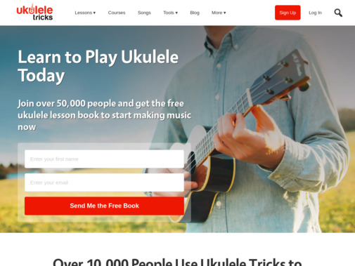 Screenshot of www.ukuleletricks.com
