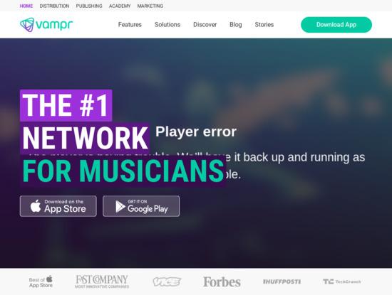 Screenshot of www.vampr.me