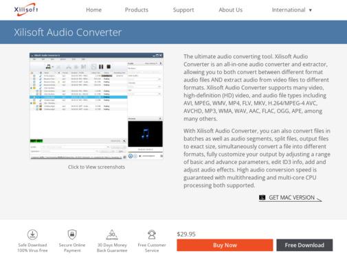 Screenshot of www.xilisoft.com