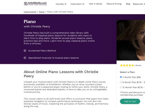 Screenshot of artistworks.com