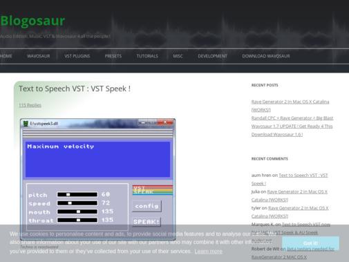 Screenshot of blog.wavosaur.com
