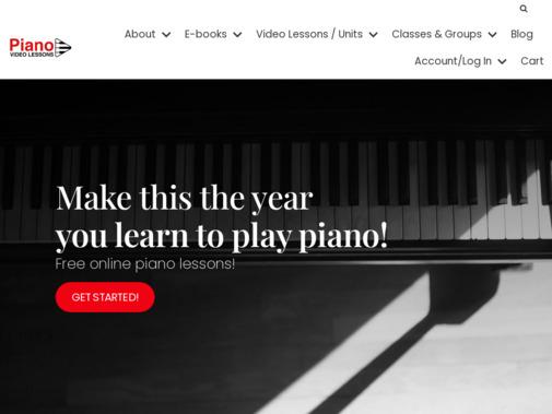 Screenshot of courses.pianovideolessons.com