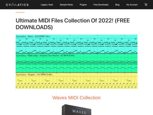 Screenshot of cymatics.fm