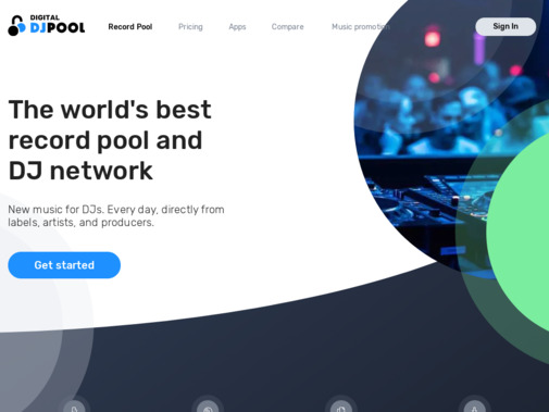 Screenshot of digitaldjpool.com