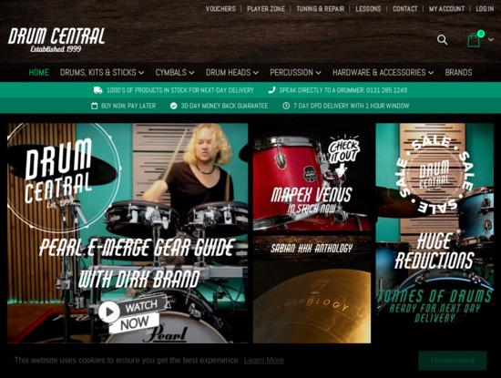 Screenshot of drumcentral.co.uk