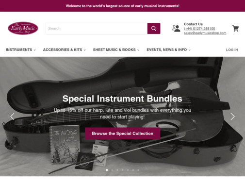 Screenshot of earlymusicshop.com
