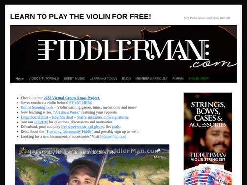Screenshot of fiddlerman.com