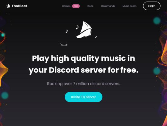 Screenshot of fredboat.com