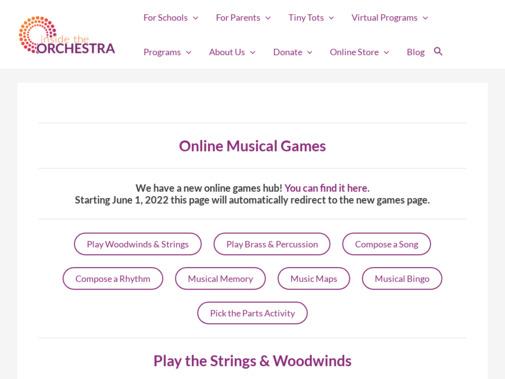 Screenshot of insidetheorchestra.org