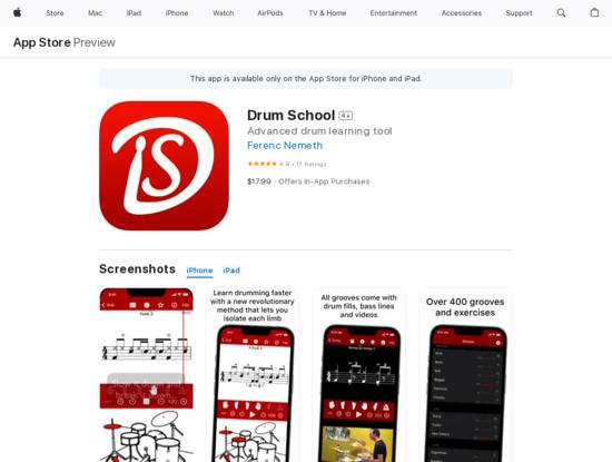 Screenshot of itunes.apple.com