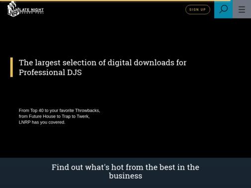 Screenshot of latenightrecordpool.com