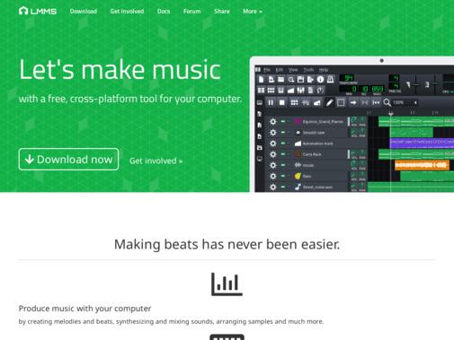 Screenshot of lmms.io