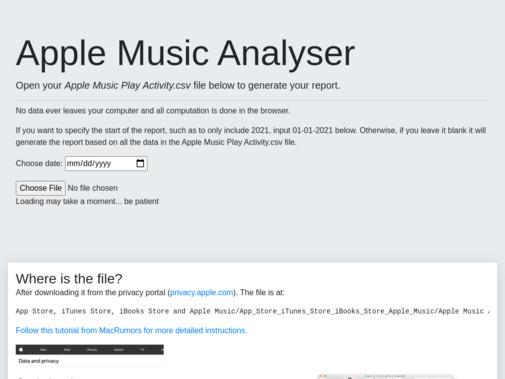 Screenshot of music.samthegeek.net
