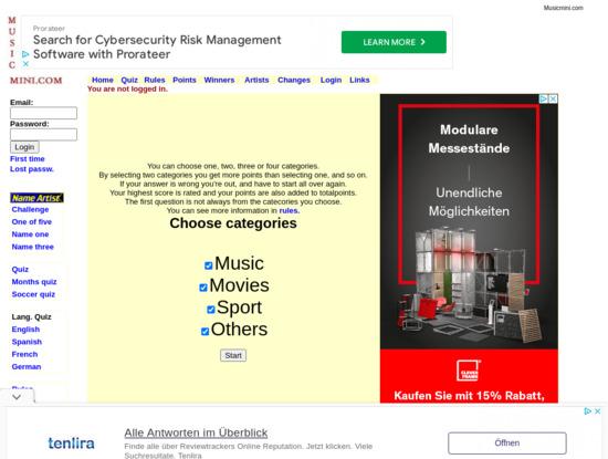 Screenshot of musicmini.com