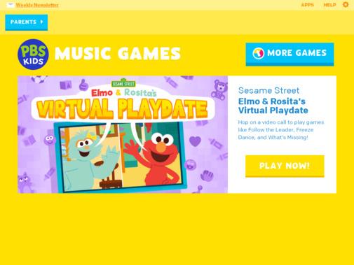 Screenshot of pbskids.org