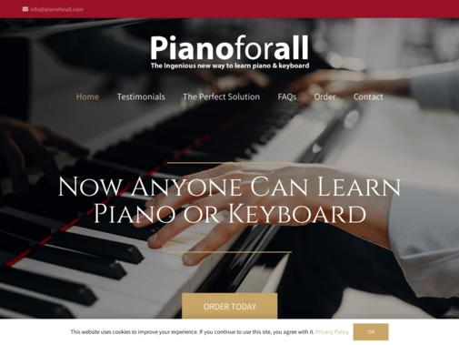 Screenshot of pianoforall.com