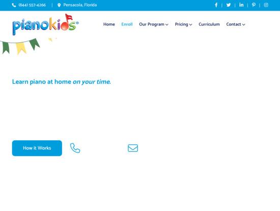 Screenshot of pianokids.com