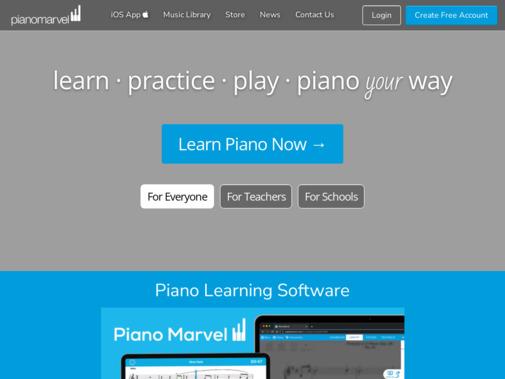 Screenshot of pianomarvel.com