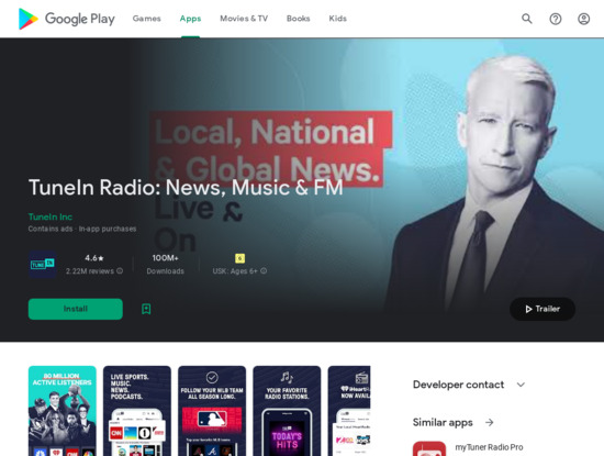 Screenshot of play.google.com