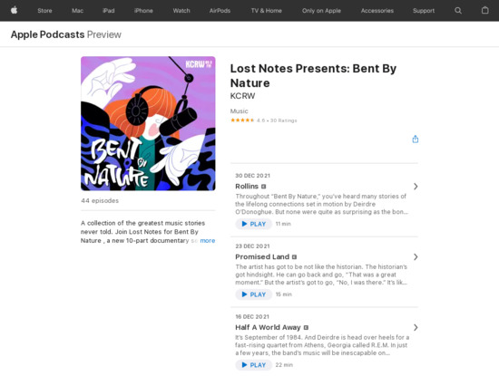 Screenshot of podcasts.apple.com