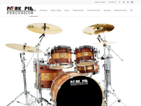 Screenshot of porkpiedrums.com