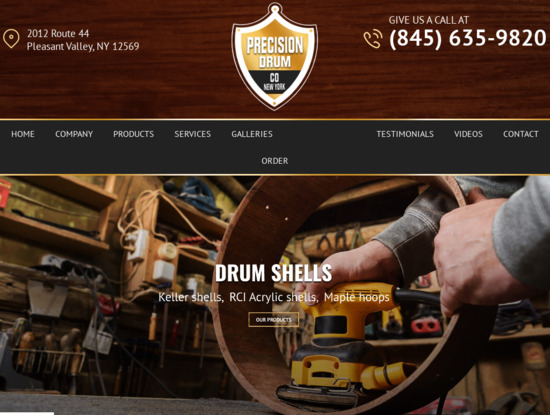 Screenshot of precisiondrum.com