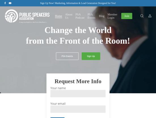 Screenshot of publicspeakersassociation.com