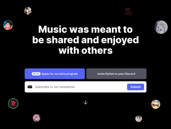 Screenshot of rythm.fm