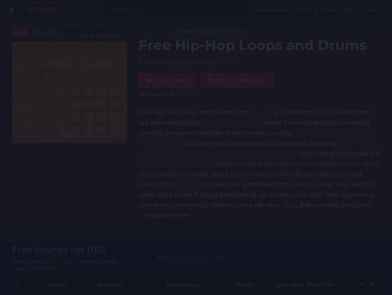 Screenshot of slooply.com