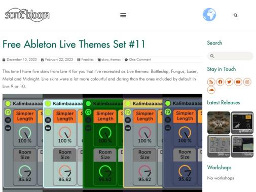 Screenshot of sonicbloom.net