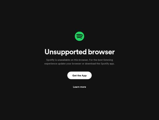 Screenshot of spotify.me