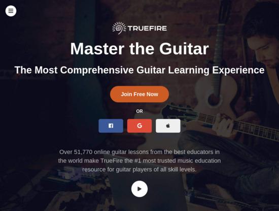 Screenshot of truefire.com