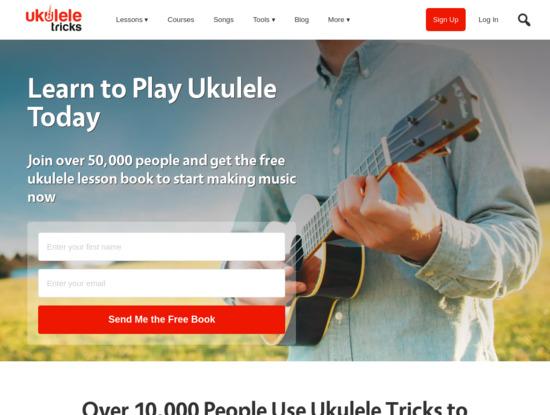 Screenshot of ukuleletricks.com
